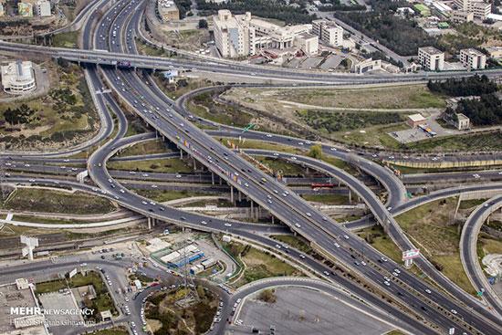 تهران بدون ترافیک در نخستین دقایق اجرای محدودیتهای کرونایی + عکس