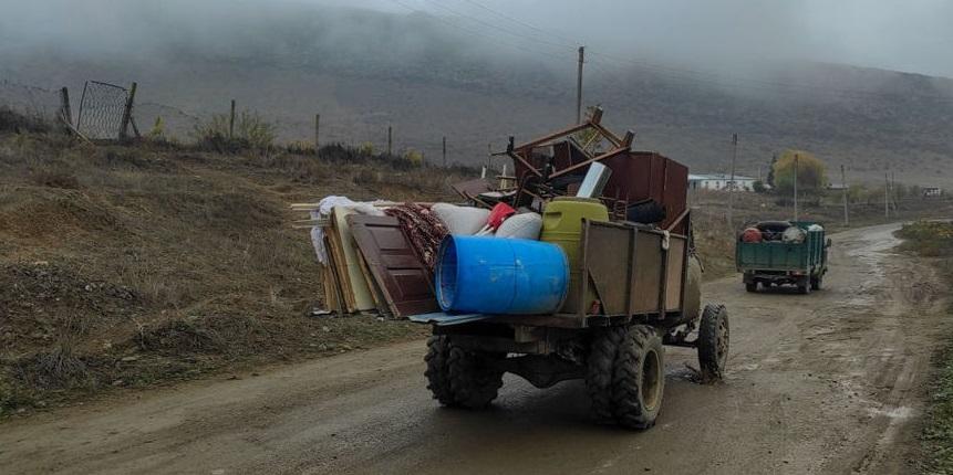 خروج ارمنیها از روستاهای خواجه لی قره باغ + عکس