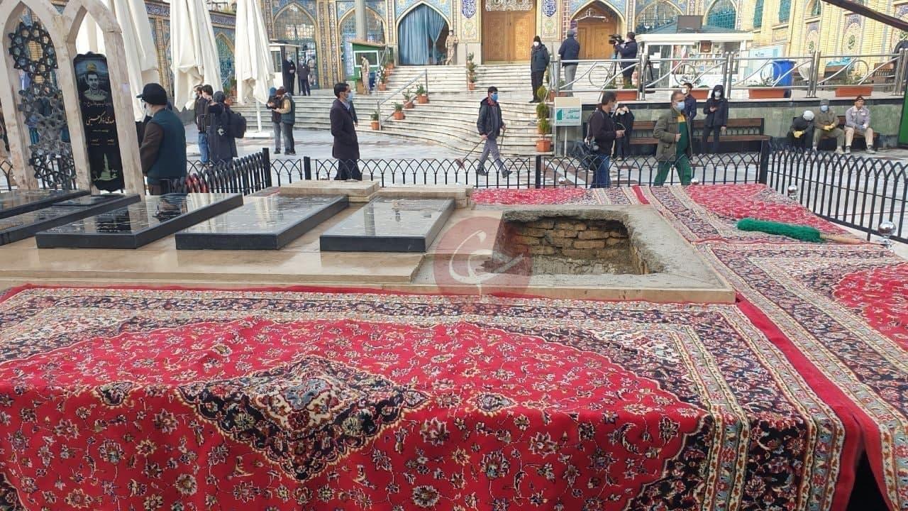 محل تدفین شهید فخری زاده در امام زاده صالح + عکس