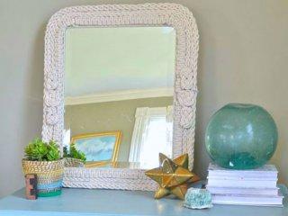 تزئین آینه با چند نوع گره ساده