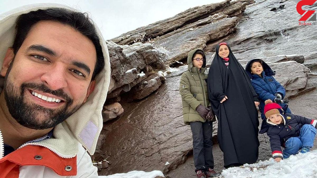 کوهنوردی وزیر با خانواده در شمال تهران +عکس