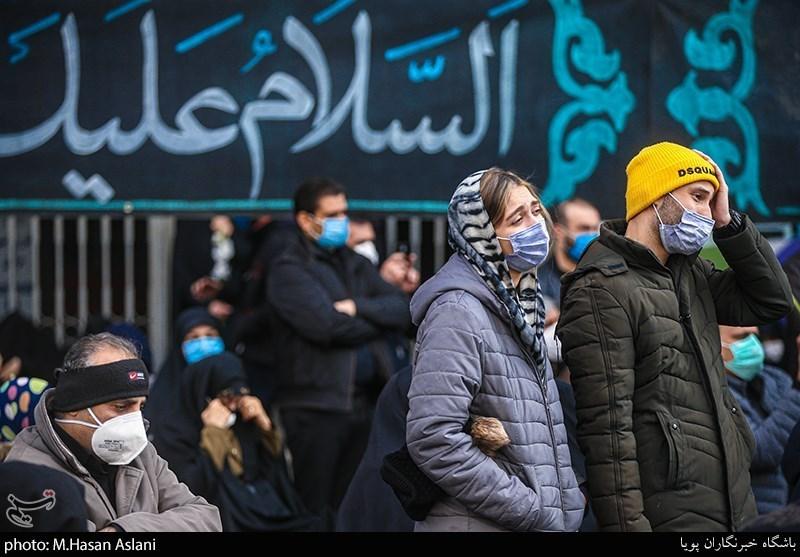 عزاداری تهرانی ها در «میدان فاطمی» + عکس