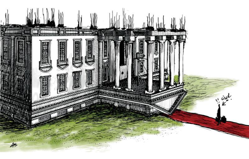 کاخ سفید زیر و رو، میراث ترامپ + عکس