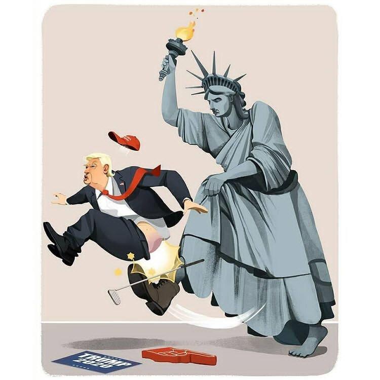 ترامپ بالاخره اُردنگی خورد! + عکس