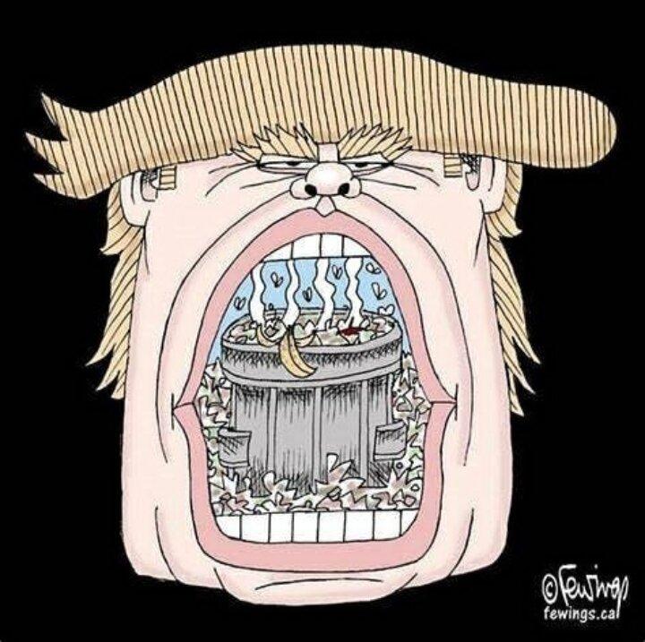 آقای ترامپ ببند اون دهنت رو + عکس