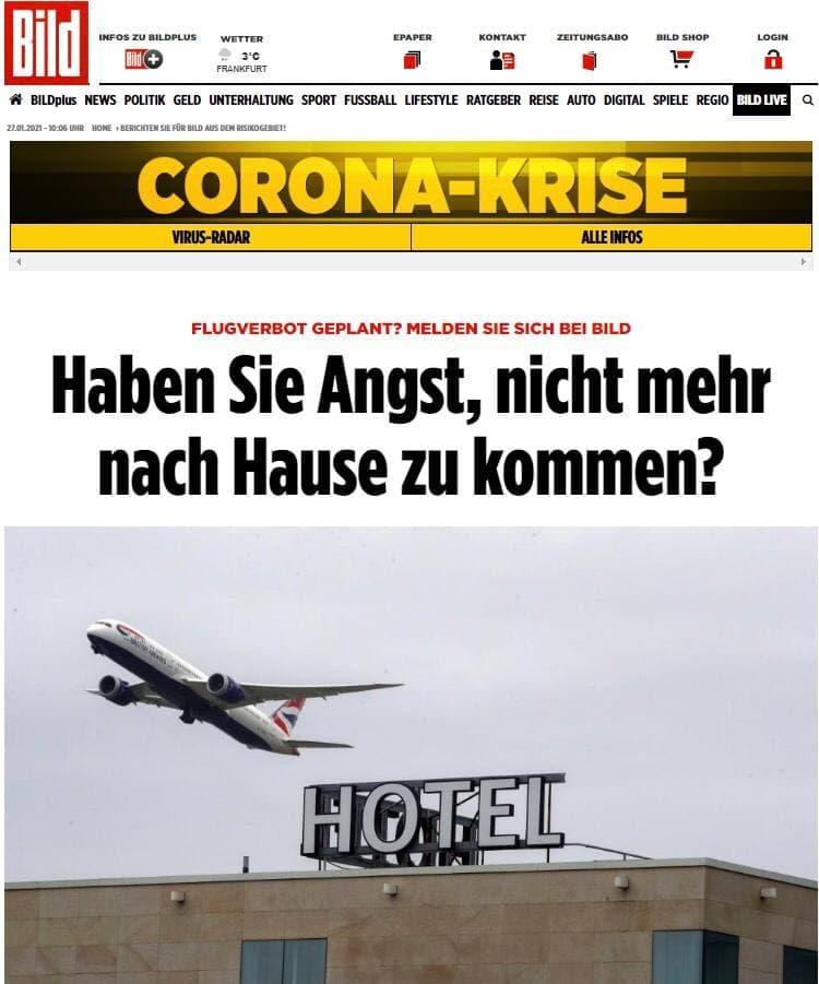 ممنوعیت پروازها در  دستور کار دولت آلمان+ عکس