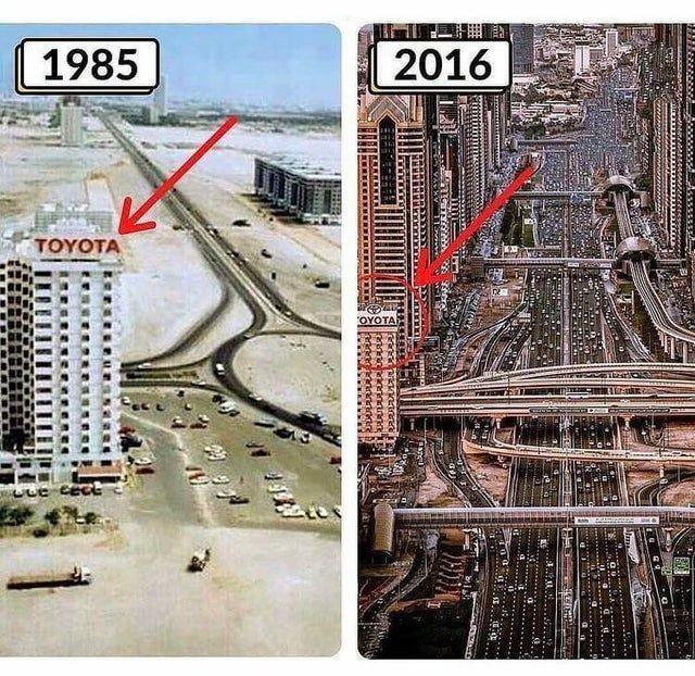 پیشرفت باورنکردنی این شهر طی ۳۰ سال! + عکس