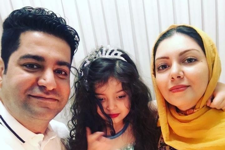 تیپ آزاده نامداری در شب تولد همسرش + عکس