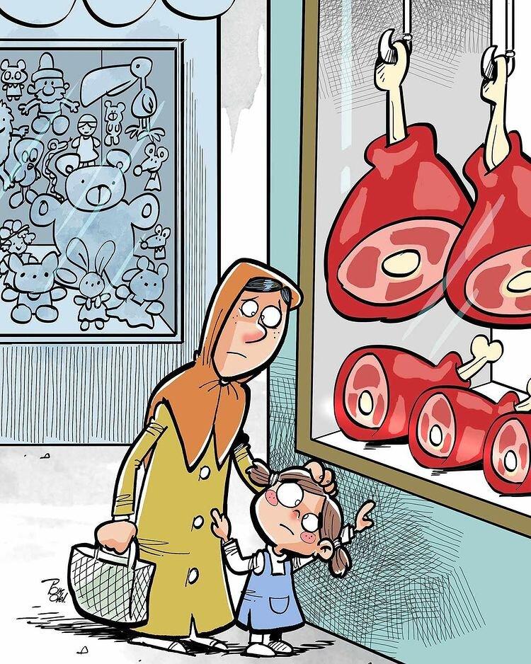 افزایش قیمت گوشت با مردم چه کرد + عکس