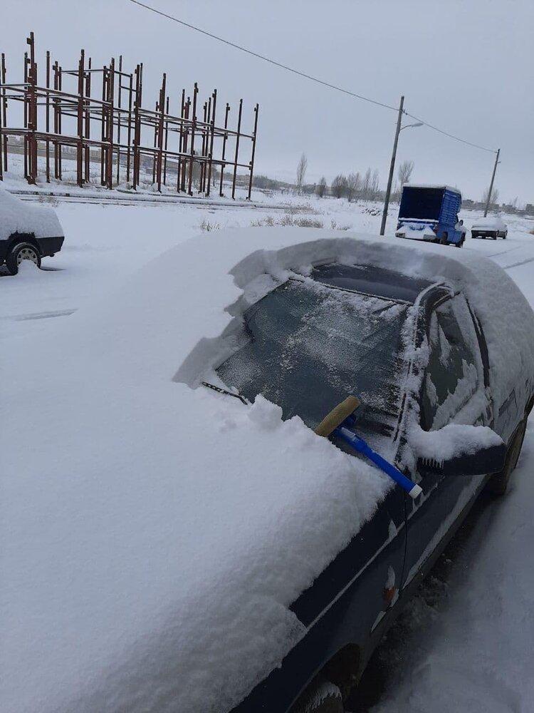 میزان عجیب بارش برف در آذربایجان شرقی + عکس