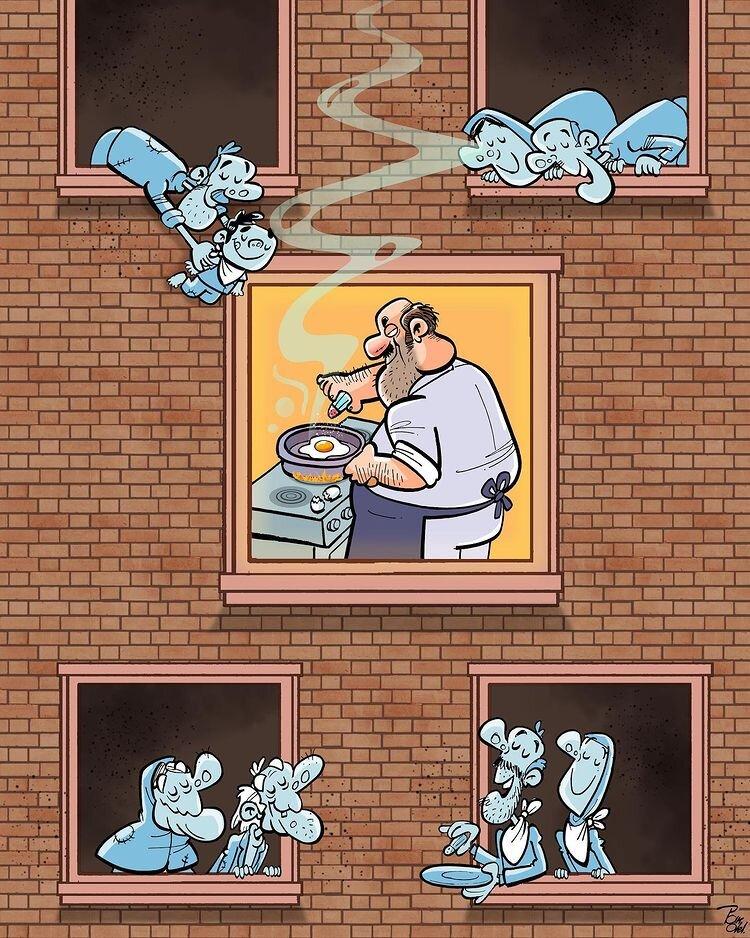 وضعیت مردم در گرانی + عکس