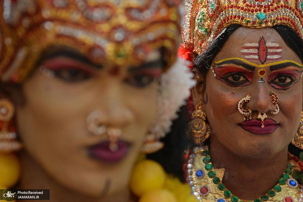 گریم زنان هندی در جشنواره + عکس
