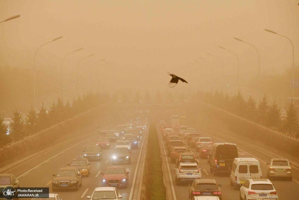 طوفان شن در پکن، چین + عکس