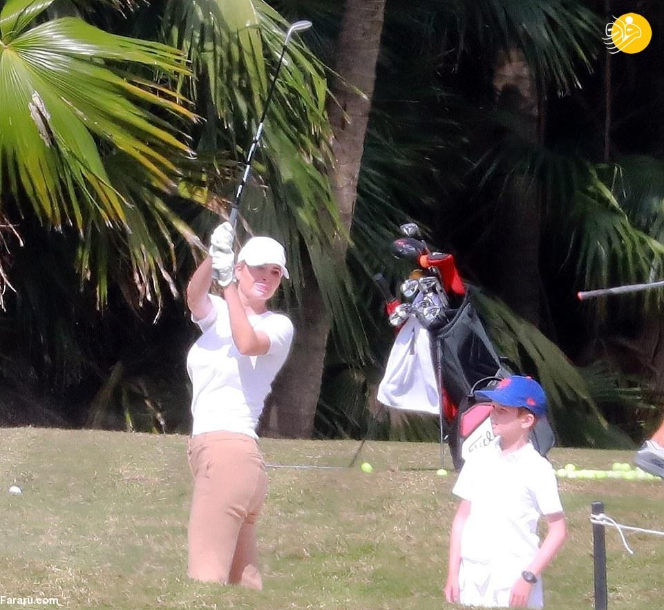 گلف بازی ایوانکا ترامپ + عکس