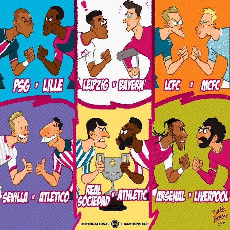 رقابتهای داغ فوتبال اروپا در یک قاب + عکس