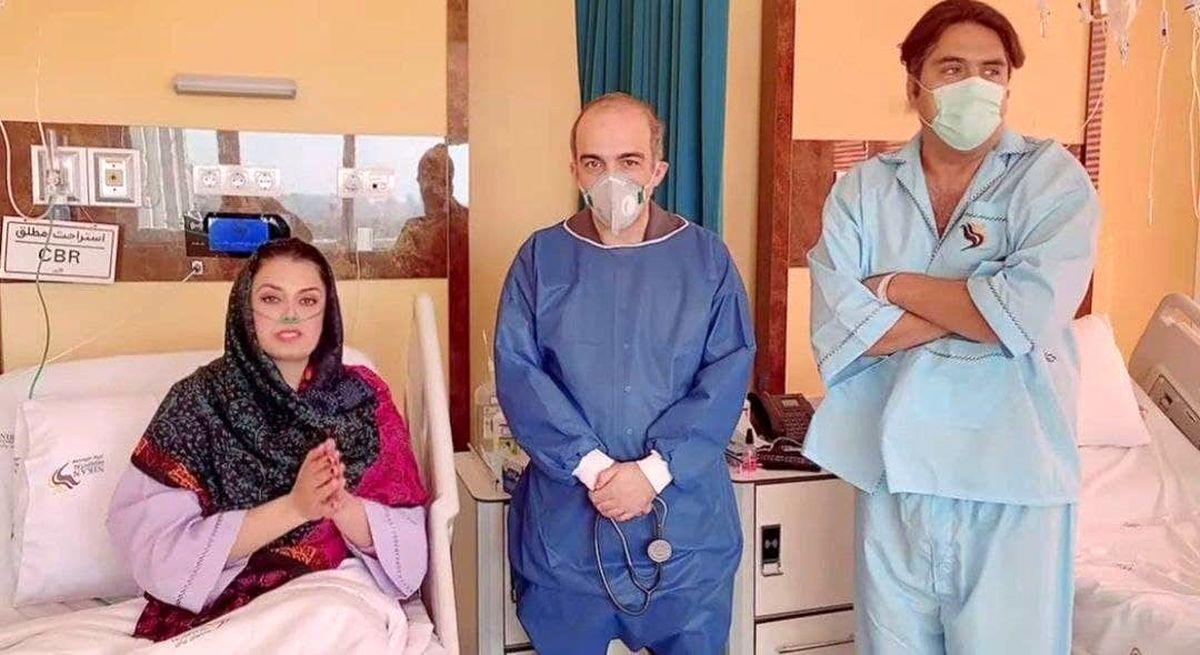 مانی رهنما و صبا راد در بیمارستان +عکس