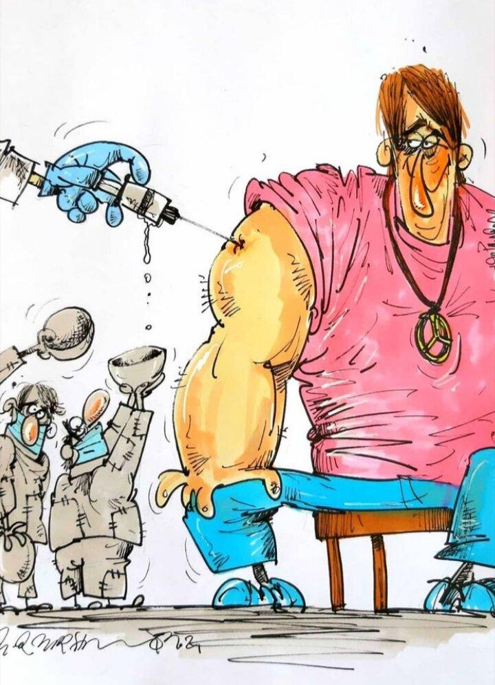 بازم واکسن کرونا به پولدارها میرسه + عکس