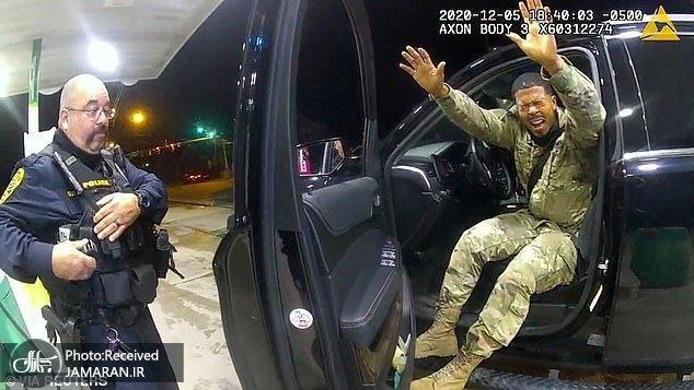 خشونت نژادپرستانه پلیس آمریکا حتی با ستوان ارتش این کشور! + عکس