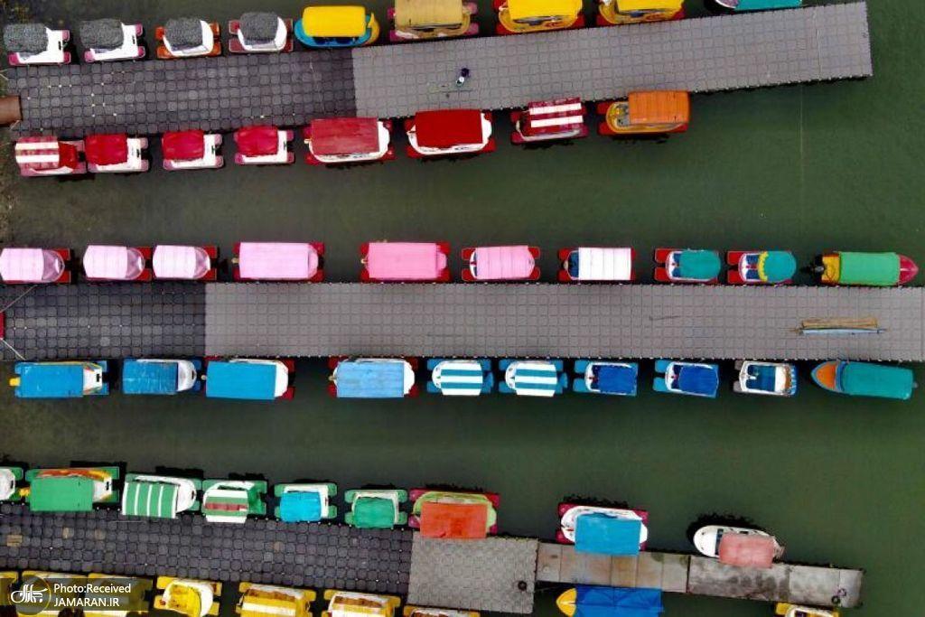 نمایی زیبا از قایقهای تفریحی در تایوان + عکس