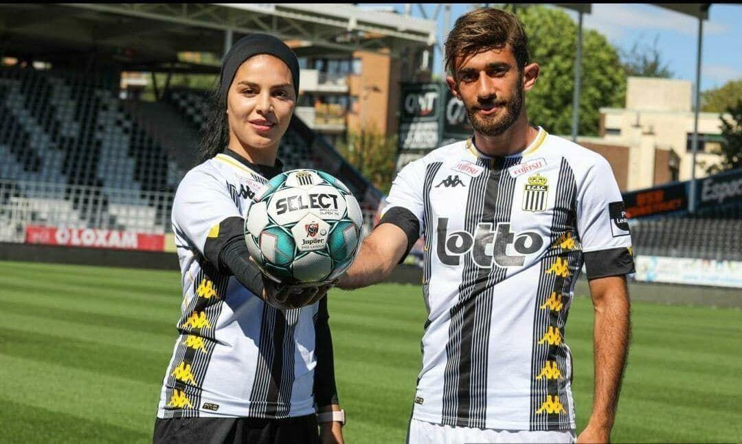 اتفاق عجیب برای فوتبالیست زن ایرانی در بلژیک + عکس