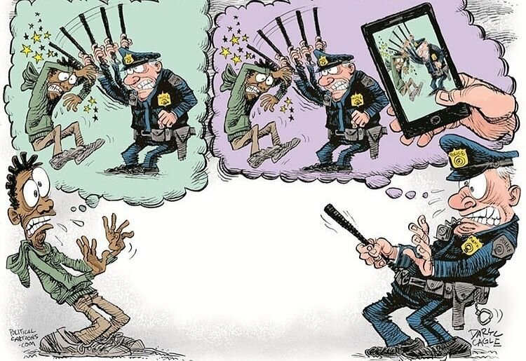 ترس پلیس آمریکا + عکس