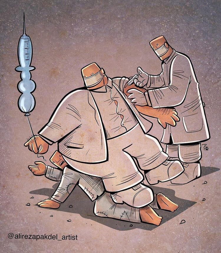 واکسن کرونا برای همه هست + عکس