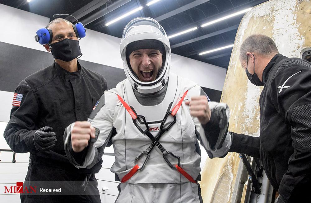 بازگشت چهارفضانورد از ایستگاه فضایی + عکس