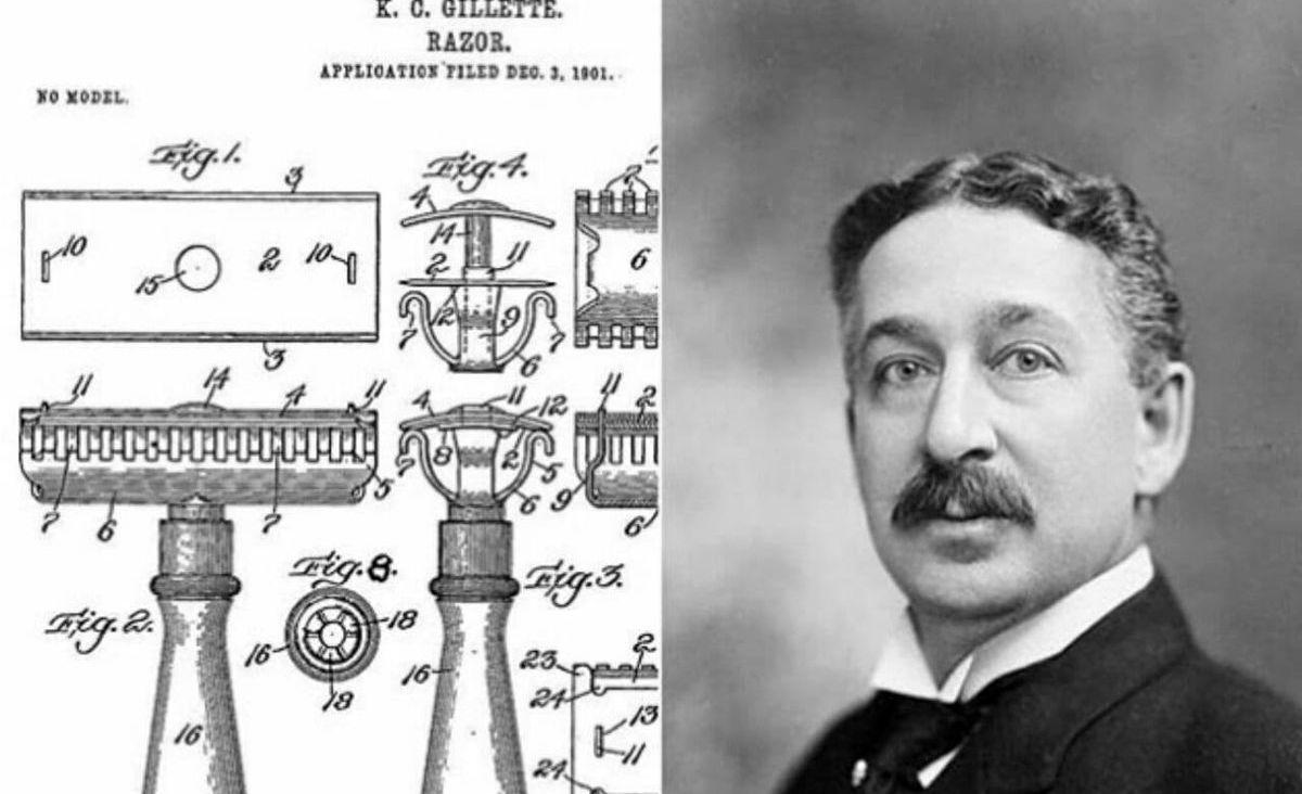 مخترع تیغ ژیلت در سال ۱۹۰۱ + عکس