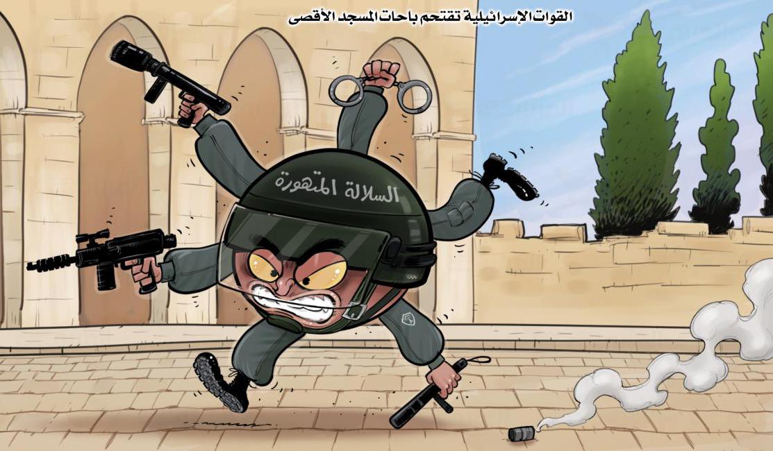 وحشیگری صهیونیستها در مسجد الاقصی + عکس