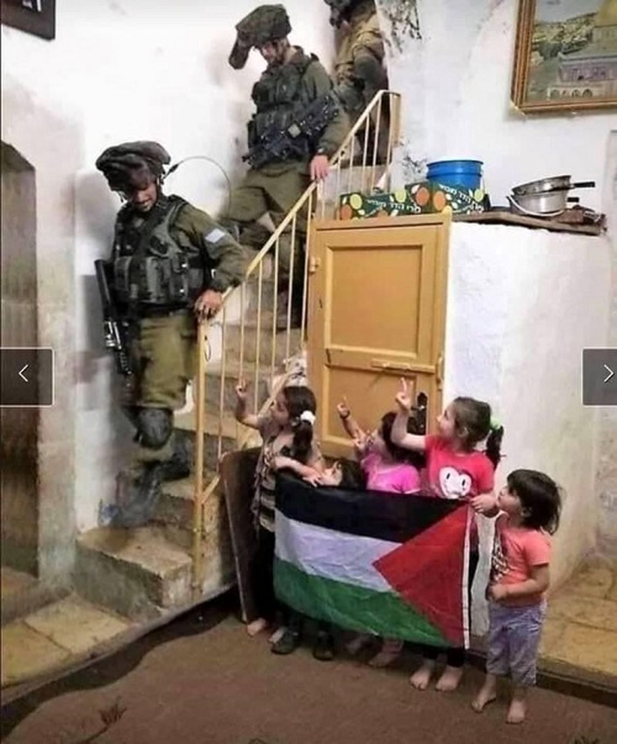 عکسی از کودکان فلسطین که جهانی شد