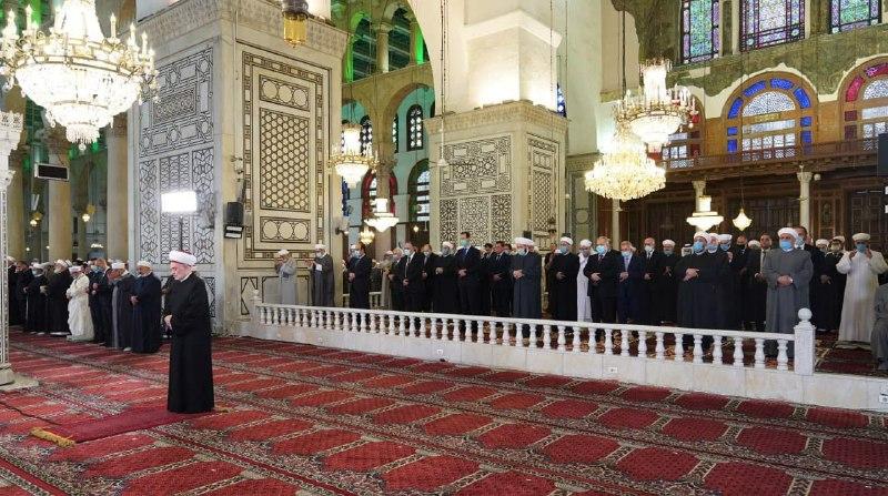 نماز عید فطر بشار اسد در دمشق + عکس
