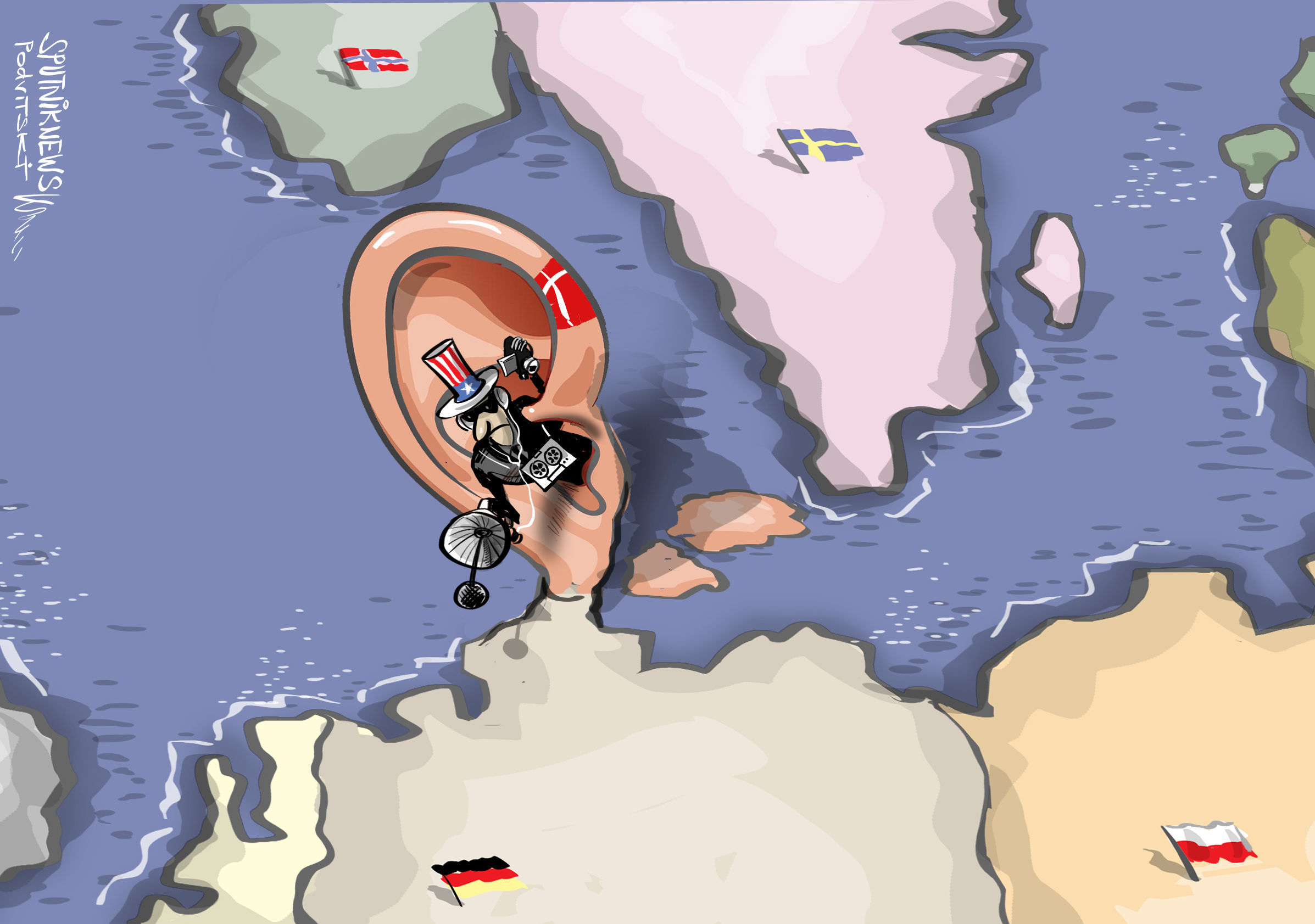 همدستی دانمارک با آمریکا برای جاسوسی از مقامات اروپا + عکس
