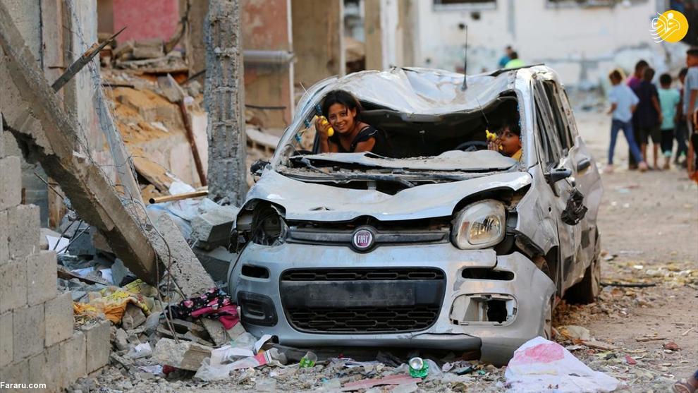 تصاویر تکاندهنده از زندگی روزمره در ویرانههای غزه + عکس