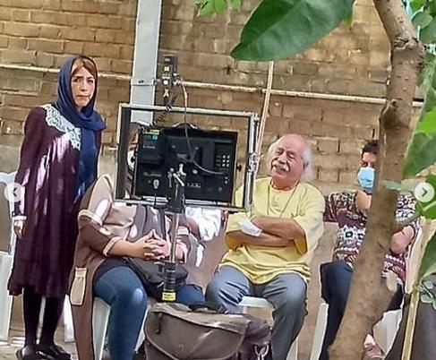 شقایق فراهانی و آذرخش فراهانی در پشت صحنه فیلم پدرشان + تصاویر