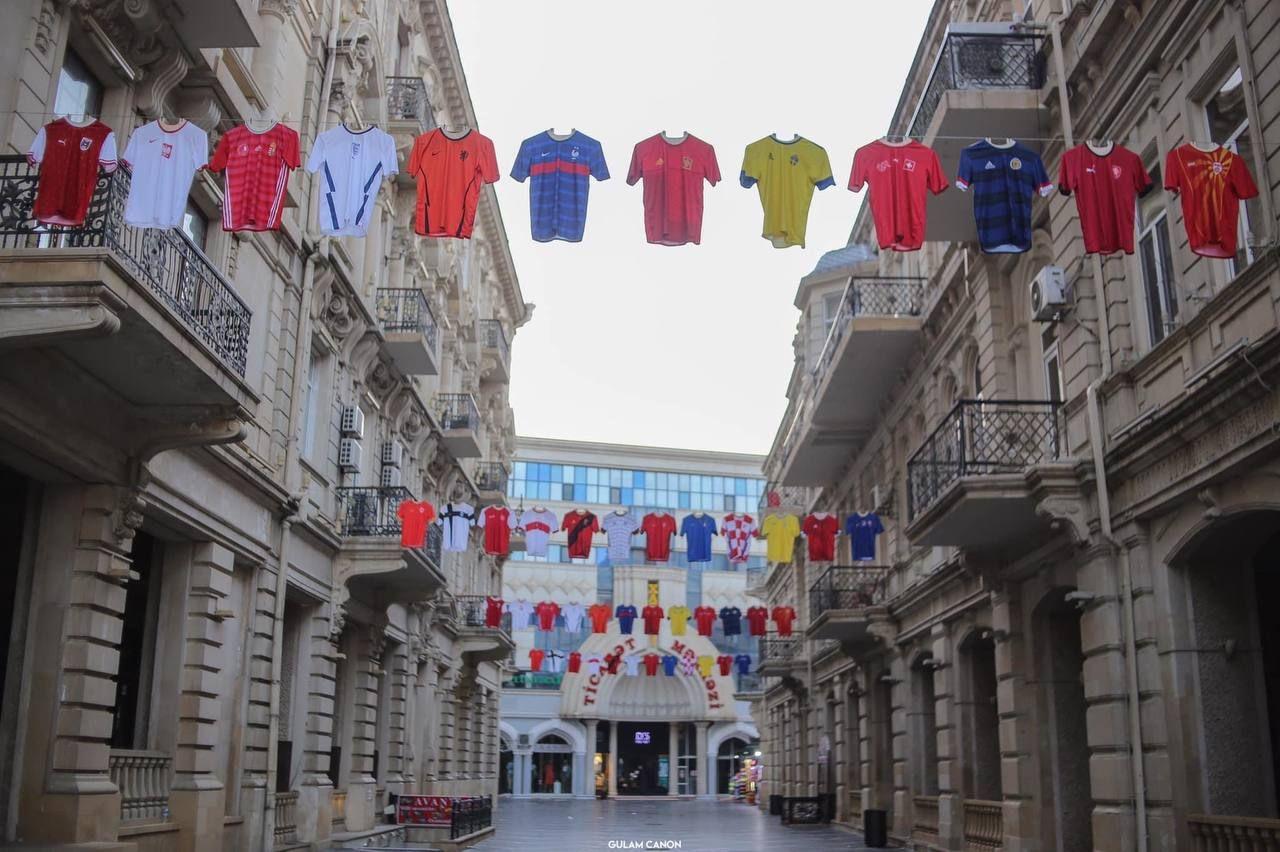 حال و هوای خیابانهای باکو برای مسابقات یوفا+عکس