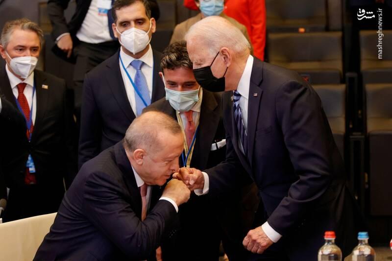 سلام بایدن به اردوغان سوژه شد + عکس