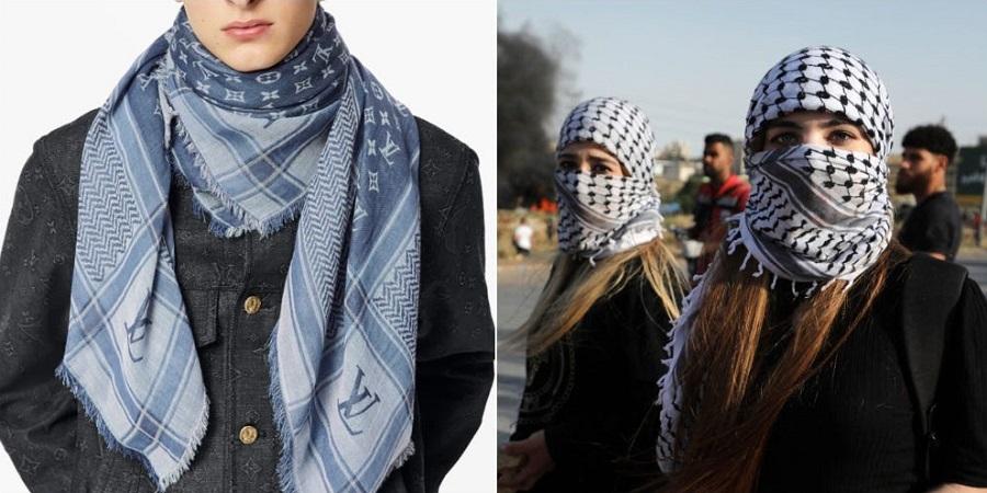 اعتراض به برند معروف به خاطر فروش روسری شبیه به چفیه فلسطینی + عکس