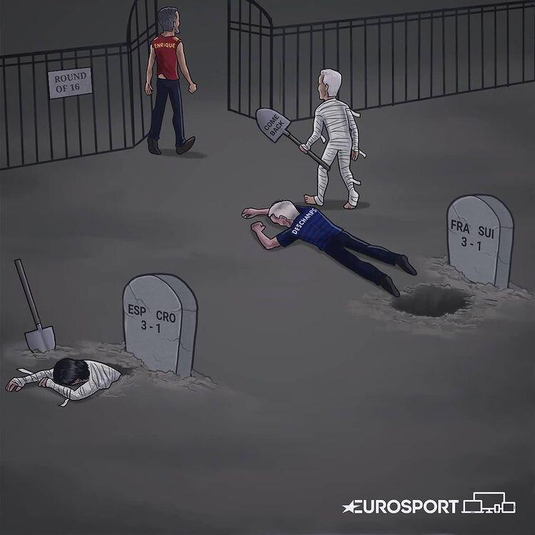 بازماندگان جنگ یک هشتم نهایی اروپا را ببینید + عکس