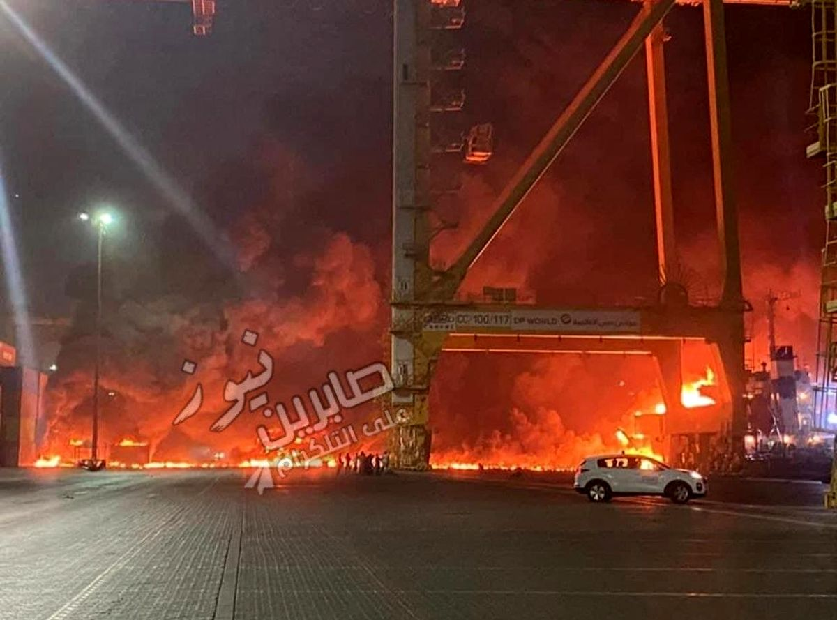 انفجار مشکوک در دوبی + عکس