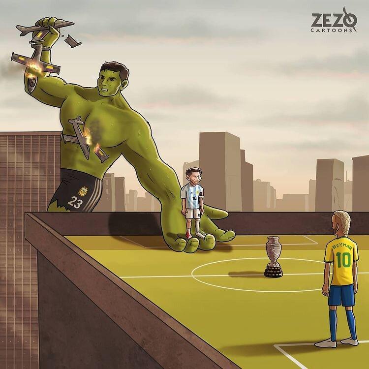 این بازیکن مسی را به فینال رساند + عکس