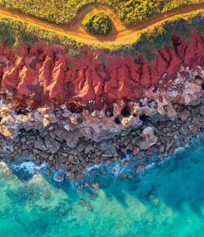 تصوری از ساحل رنگی در استرالیا + عکس