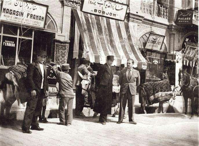 تصویر یکی از خیابانهای تهران در سال ۱۳۱۹ + عکس