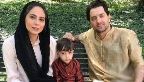بهرام رادان و رعنا آزادی ور در پشت صحنه سریال جیران + عکس