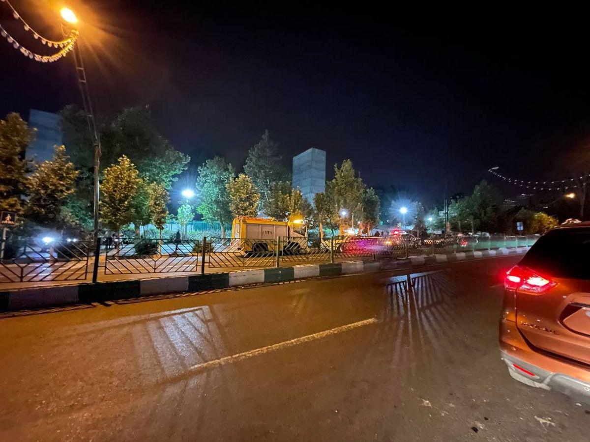 اولین تصاویر از محل انفجار بامدادی در داخل پارک ملت تهران/آیا این حادثه تروریستی بوده ؟