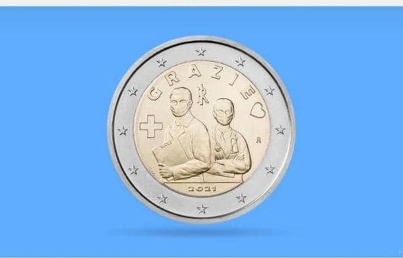 ضرب سکه دو یورویی به احترام اقدامات خارق العاده کادر درمان+ عکس