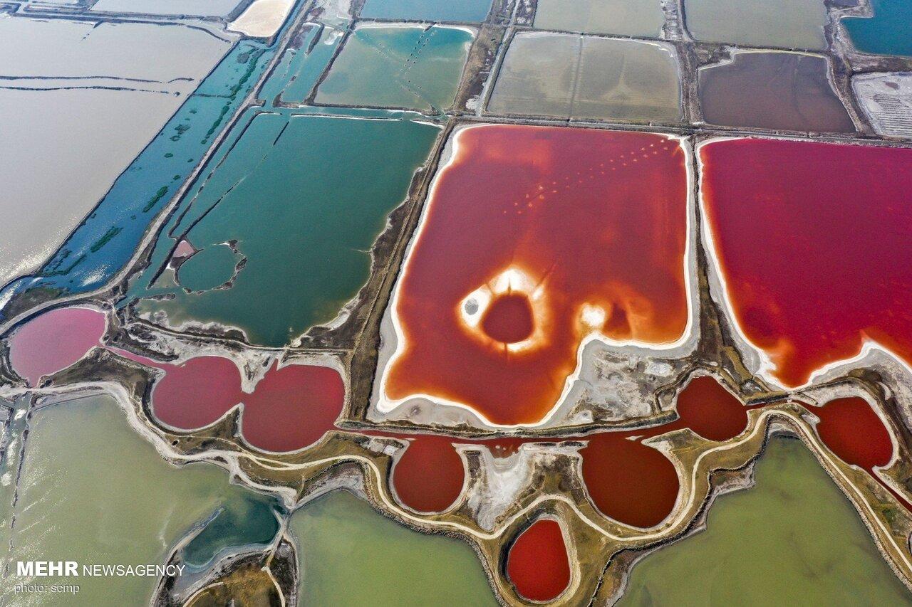 تصاویر هوایی از دریای مرده چین + عکس