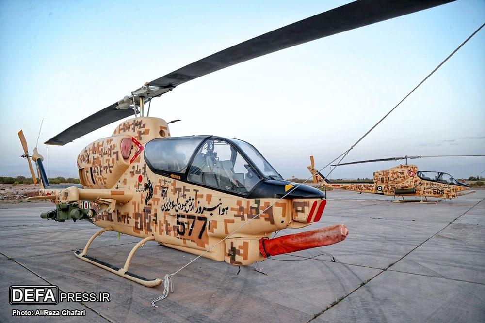 استتار جدید بالگرد های پایگاه هوانیروز کرمان + عکس