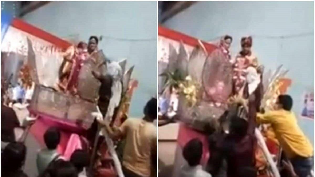 کتک زدن داماد با سندل توسط مادرش در جشن عروسی! +عکس