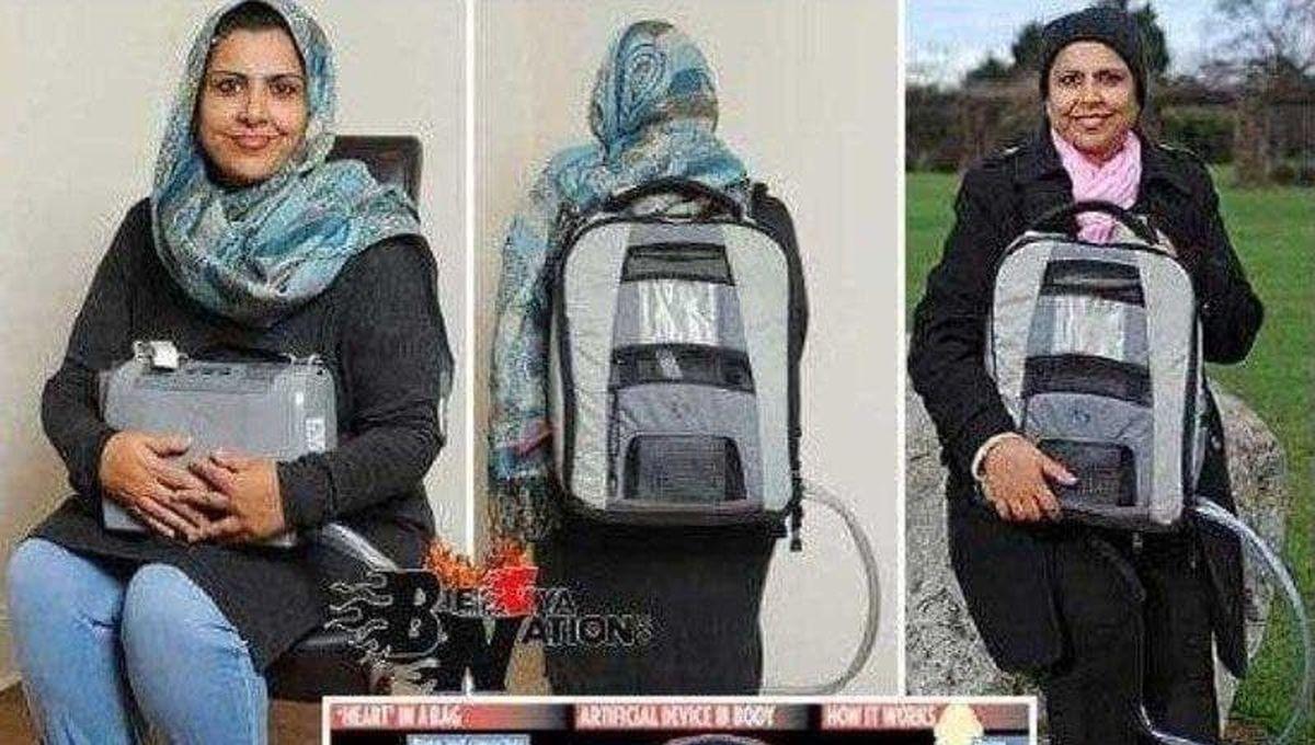 زنی که قلبش را در کوله پشتیاش حمل میکند! + عکس