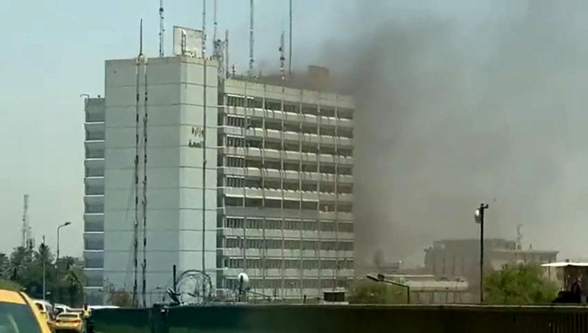 آتشسوزی بزرگ در ساختمان وزارت بهداشت عراق + اولین تصویر
